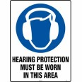 102LM 600mm x 450mm Hearing Protection Sign